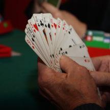 Ułożone karty w ręce