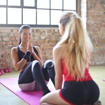 kobiety na macie, fitness