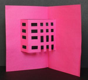 różowa kartka