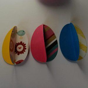 papierowe jajka