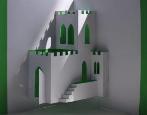 zamek zielony