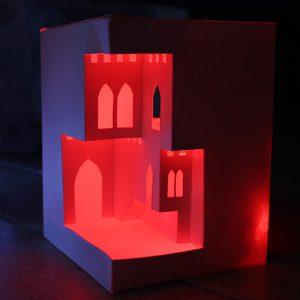 zamek czerwony