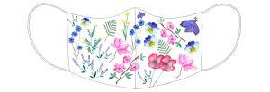 wzór maseczki, kwiaty