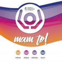kolorowa grafika, logo festiwalu mam to