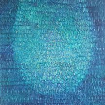Obraz- cieniowane kropki na niebieskim tle