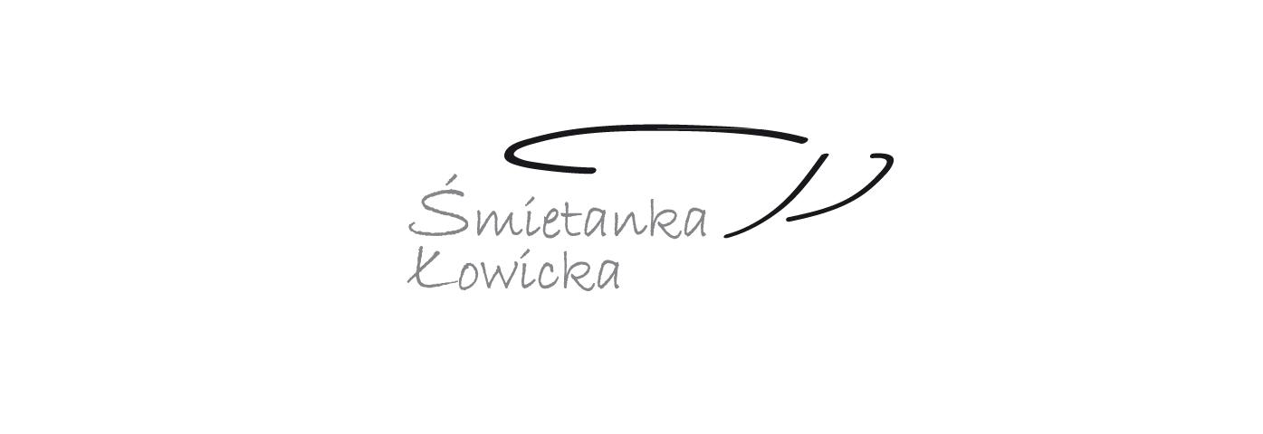 logo Śmietanka Łowicka, czarną kreską zarysowana filiżanka