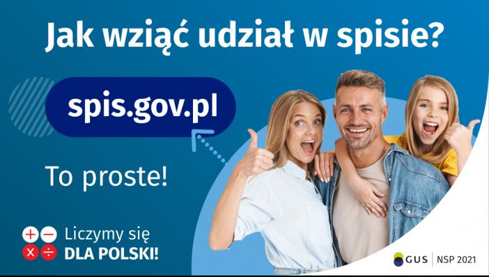 Jak wziąć udział wspisie? Toproste!  spis.gov.pl Liczymy się Dla Polski!
