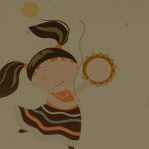 dziewczynka z lizakiem